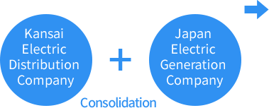 Kansai Electric Distribution Company  Consolidation  Japan Electric Generation Company