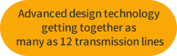 Advanced design technology getting together as many as 12 transmission lines